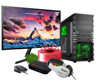 Two complete hardware gaming packages worth over € 1,400 €