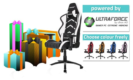 AKRACING PLAYER GAMING CHAIR im Wert von 299 €