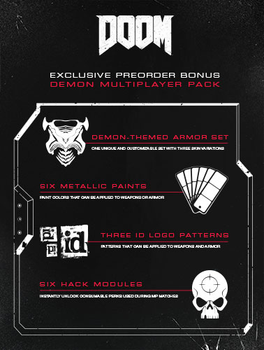 DOOM Day 1 Edition Bonus Content
