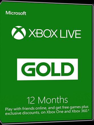 Xbox Live Gold - 12 month subscription [EU]