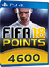4600 FUT Points - FIFA 18 PS4 DE