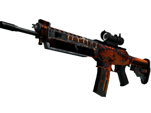 StatTrak™ SG 553 | Tiger Moth (Battle-Scarred)