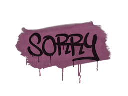 Sealed Graffiti | Sorry (Princess Pink)