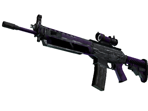 StatTrak™ SG 553 | Ultraviolet (Battle-Scarred)