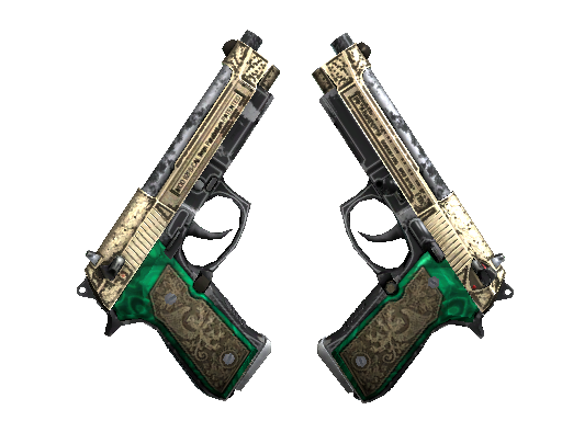 StatTrak™ Dual Berettas | Royal Consorts (Well-Worn)