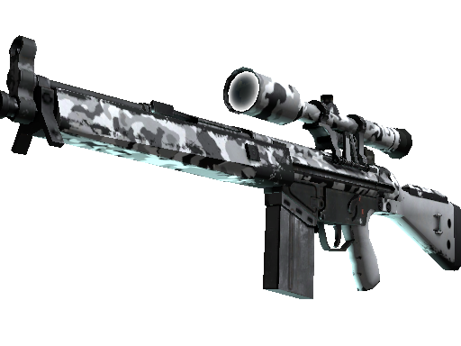 Souvenir G3SG1 | Polar Camo (Well-Worn)