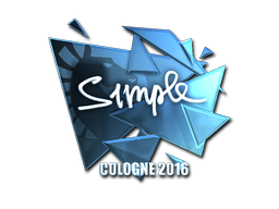 Sticker | s1mple (Foil) | Cologne 2016