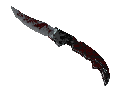 ★ Falchion Knife | Crimson Web (Battle-Scarred)