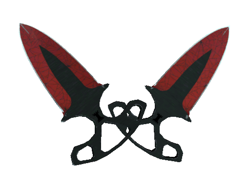 ★ Shadow Daggers | Crimson Web (Well-Worn)