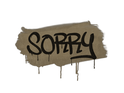 Sealed Graffiti | Sorry (Dust Brown)
