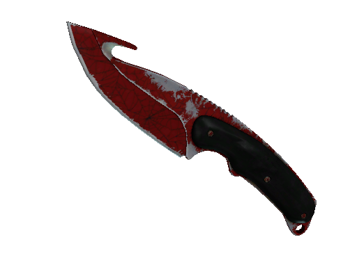 ★ Gut Knife | Crimson Web (Well-Worn)