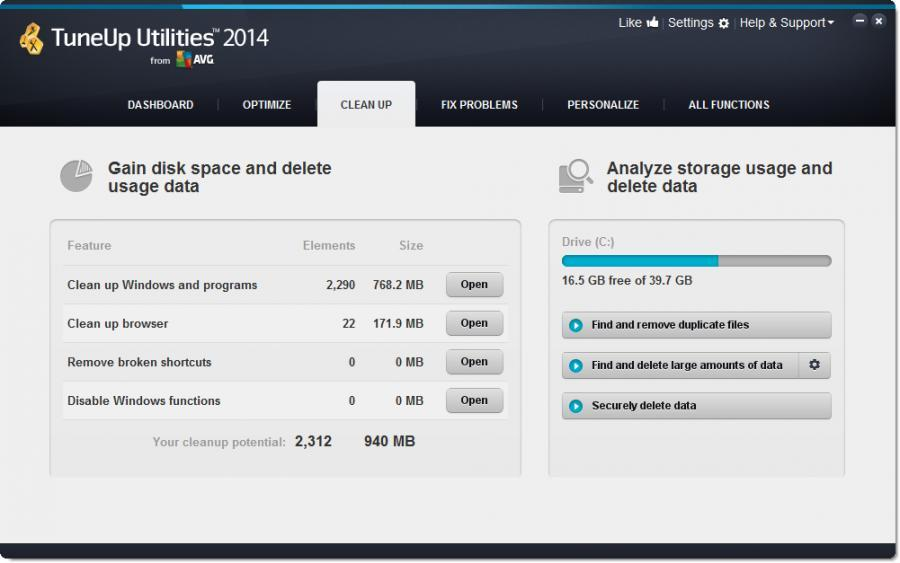 TuneUp Utilities 2014 (3 Users) Screenshot 3