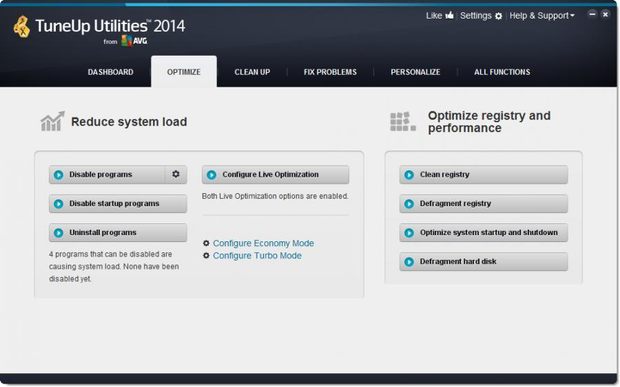 TuneUp Utilities 2014 (3 Users) Screenshot 2