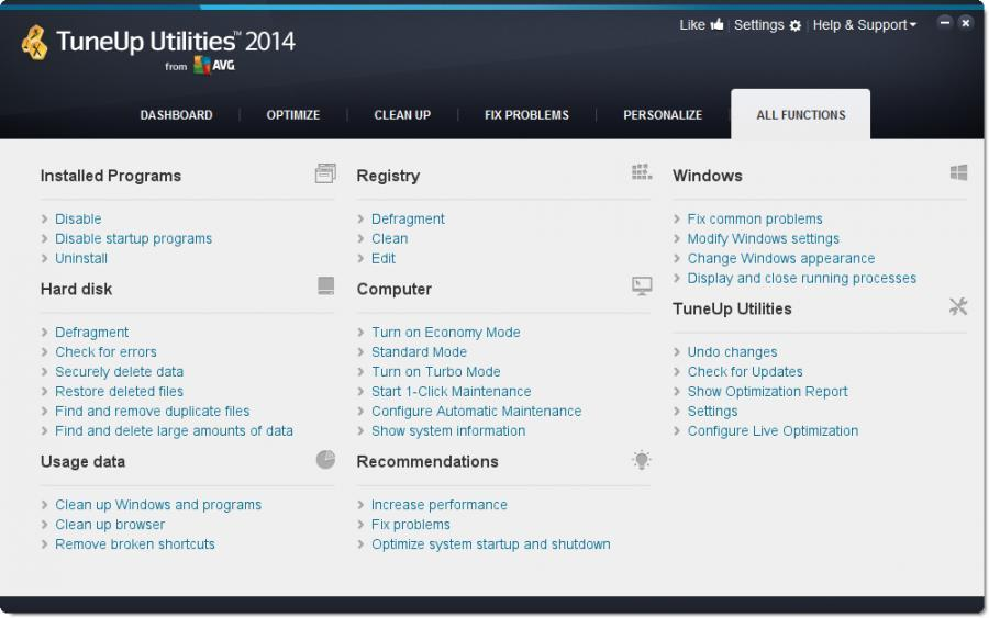 TuneUp Utilities 2014 (3 Users) Screenshot 4